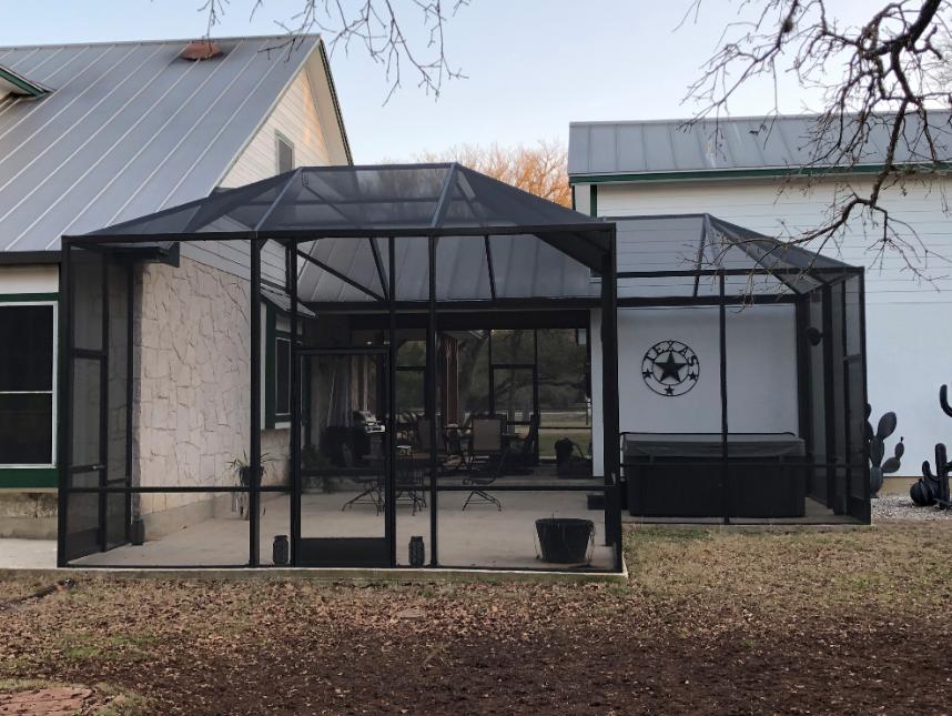 Professional Screen Enclosures In San Antonio Tx Texas Custom Exteriors