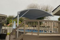 shade structure by the pool